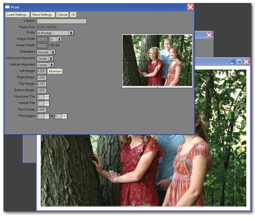 Step 1: Open the photo using Picture Window for Quilters software.